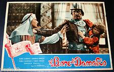 fotobusta originale IL LEONE DI DAMASCO Dina Sassoli 1950 da Salgari