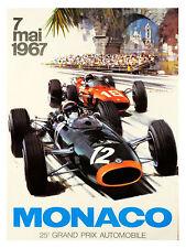 Monaco Grand Prix, Retro Metal Fridge Magnet,100mm x 75mm Novelty Gift