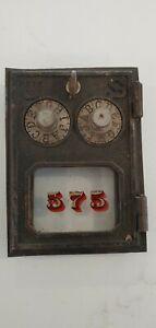 Antique Vintage Post Office Door Mail Box Postal , No broken glass #575