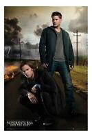 89536 Supernatural Dean And Sam Decor LAMINATED POSTER DE