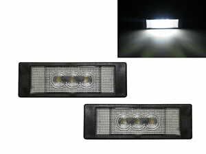 6-Series F06 Second generation 2013-2018 Coupe 4D LED License Lamp White for BMW