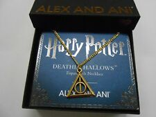 Alex and Ani Harry Potter Deathly Hallows Necklace Rafaelian Gold NWTBC