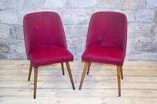 2 Pièces chaise Culte Rétro Fauteuil club Chaise De Salon - Chaise Tissu Paire