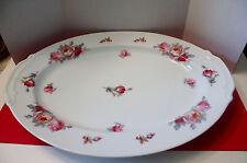 "Sango Pink Yellow Roses Blue Green Leaves SAN 5 Serving Platter 16"""