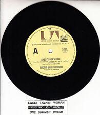 "ELECTRIC LIGHT ORCHESTRA  Sweet Talkin' Woman ELO 7"" 45 record + juke box strip"