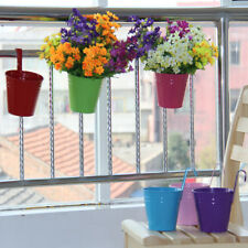 10 x Metal Iron Flower Pot Hanging Balcony Garden Plant Planter Home Decor