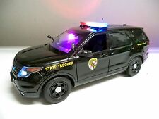 1/18 Scale Maryland State POLICE FORD PI SUV Working LIGHTS & SIREN Ut (MSP