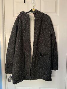 Fleece Lined Zip Up Hoodie M