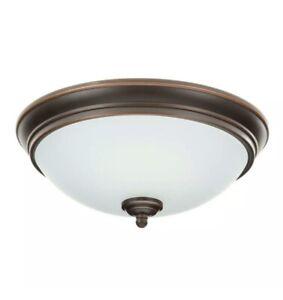"""(5) Commercial 11"""" 60-Watt Oil-Rubbed Bronze Integrated LED Flush mount Light"""