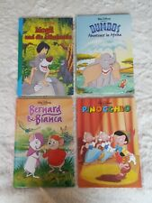 4 Bilderbücher Disney Mogli, Dumbo, Pinocchio, Bernard und Bianca
