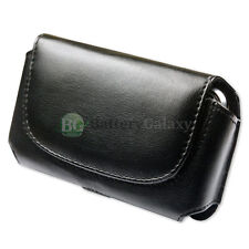 NEW Genuine Leather Pouch Belt Clip Cell Phone Case for Android Alcatel GO FLIP
