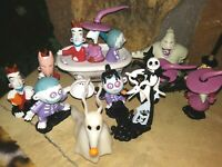 NIGHTMARE BEFORE CHRISTMAS PVC DISNEY STORE FIGURINES, NEW, MINT 3-5 inches tall