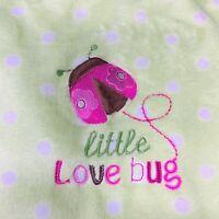 Circo Green White Polka Dots Baby Blanket Little Love Bug Ladybug Fleece Target