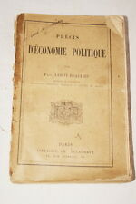 PRECIS D'ECONOMIE POLITIQUE LEROY BEAULIEU 1899