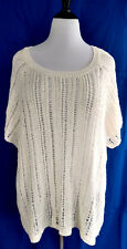 Torrid Mesh Knit Top Womens Plus Size 6 30 Cream White Pullover Cool Soft