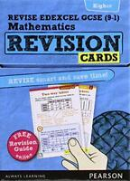 REVISE Edexcel GCSE (9-1) Mathematics Higher Revision Cards: With Free Online Re