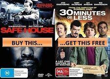 SAFE HOUSE Denzel Washington + 30 MINUTES OR LESS Jesse Eisenberg 2DVD NEW