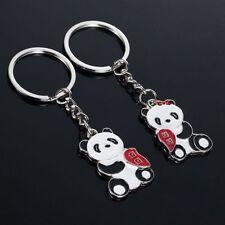 1 Pair Metal Gift Keyring Panda Keyfob Keychain Lover Couple