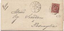 P8605   Lucca, Massarosa, annullo numerale a sbarre, 1887