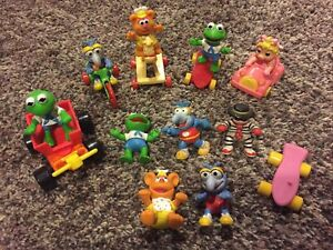 McDonald's Muppet Babies Happy Meal Toys Kermit The Frog Gonzo Mrs Piggy Fozzie