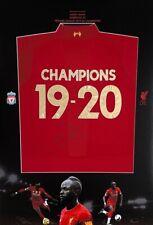 Sadio Mane hand signed Liverpool FC shirt