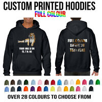 Custom Printed Full Colour Gildan Heavy Blend Hoodie Hoody Unisex Personalised