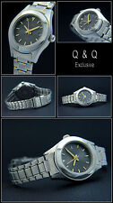 CLASSIC Q&Q WOMEN'S WATCH EASY TO READ/DATE EXTRA LONG STAINLESS STEEL BAND 21CM