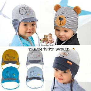 RICH Cotton boys hat with lining spring 12-24 months 2-4 Years TIE UP KIDS TEDDY