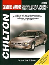 Buick Regal, Chevy Lumina, Monte Carlo, Oldsmobile Cutlass Supreme, Pontiac Gran