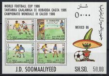 Somalia 1986 Mi. Bl. 21 Foglietto 100% Nuovo ** Calcio, Coppa Mondo