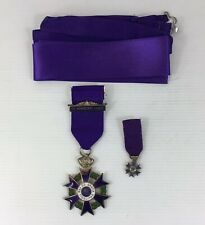 Rare 1977 International Monarchist Medal Solid Silver & Enamel With Miniature