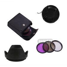 52mm CPL UV FLD  Filter Lens Cap Hood for Nikon D3100 D5000 D5100 D7000 Polarize