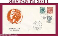 ITALIA FDC ALA 182 SIRACUSANA CARTA FLUORESCENTE 1968  ANNULLO MILANO G166