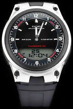Casio AW-80-1AV Watch World Time 10 Year Battery Black 30 Page Telememo New
