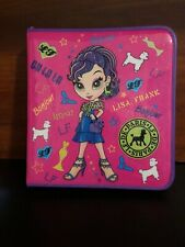 Lisa Frank Glamour Girl Poodles Three Ring Zippered Binder