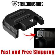 Strike Industries Quick Detachable Slide End Plate for Glock -Push Button-V2-BLK