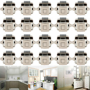 20x Push Button Catch Lock For RV Drawer Caravan Motorhome Cupboard Latch Knob