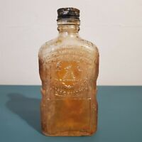 Vintage 1940s Jackman Whiskey Carnival Glass Liquor Bottle Griffith Label