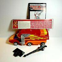 Rodimus Prime Transformers G1 1986 Hasbro Takara Instructions Stat Card Weapon