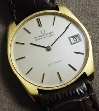 Universal Genève Microtor golden shadow date 18 kt micro rotor nice condition