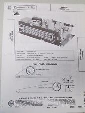 Vintage Sams Photofact Folder Radio Parts Manual Capitol 954S 9 Tube FM AM Tuner