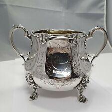 Historismus Schale London um 1871 Sterling Silber 925 punziert