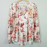 [ WITCHERY ] Womens Floral Print Blouse Top - As New | Size AU 12 or US 8