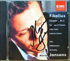 Mariss JANSONS Signed SIBELIUS Symphony No.2 Valse triste The Swan of Tuonela CD
