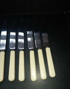 6x Vintage James Ryals Firth Stainless  Butter Dinner /Desert Knives