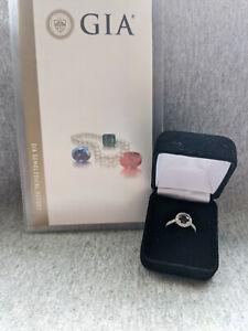 GIA Certified 1.21 ct Natural Alexandrite Green Purple Diamond White Gold Ring