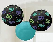 The Party Continuous 50th Birthday Party Hanging Round Lanterns Decoration, Pack