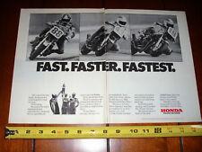 1982 HONDA CB900F SUPERBIKE SPENCER BALDWIN PIETRI - ORIGINAL 2 PAGE AD CB 900