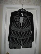 WOMANS BLACK 2X DRESS JACKET WITH WHITE STRIPES