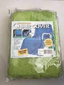 THE BAHAMA TOWEL Chair Cover Towel Green